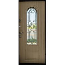 Входные двери нестандартных размеров с витражным стеклом